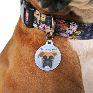 Boxer Personalised Pet ID Tag