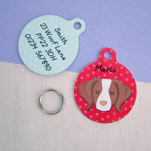 Brittany Dog ID Tag Personalised