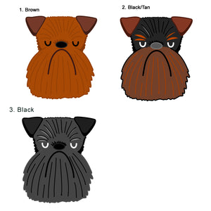 Brussels Griffon personalised Dog ID Tag  - Hoobynoo - Personalised Pet Tags and Gifts