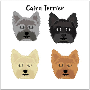 Cairn Terrier Personalised Christmas Present Sack  - Hoobynoo - Personalised Pet Tags and Gifts