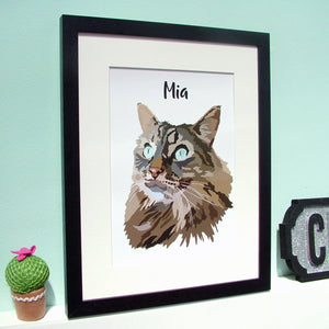 Custom Contemporary Cat Portrait