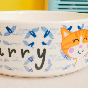 Koi Personalised Cat Bowl  - Hoobynoo - Personalised Pet Tags and Gifts