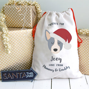 Australian Cattle  Dog Treat / Christmas Sack  - Hoobynoo - Personalised Pet Tags and Gifts