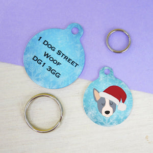 Australian Cattle Dog cute Christmas Dog ID tag  - Hoobynoo - Personalised Pet Tags and Gifts