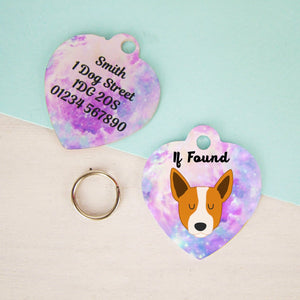 Australian Cattle Dog Tag -Universe HEART  - Hoobynoo - Personalised Pet Tags and Gifts