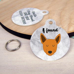 Australian Cattle Dog Personalised Dog Tag - Marble Print  - Hoobynoo - Personalised Pet Tags and Gifts