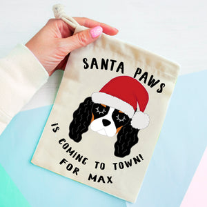Cavalier King Charles Spaniel Christmas Treat Present Bag  - Hoobynoo - Personalised Pet Tags and Gifts