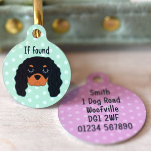 Personalised Cavalier King Charles Spaniel Dog Tag