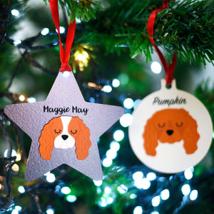 Cavalier Personalised Dog Christmas Decoration