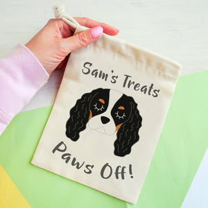 Cavalier King Charles Spaniel Personalised Treat Training Bag  - Hoobynoo - Personalised Pet Tags and Gifts