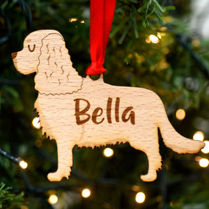 Cavalier Personalised Wooden Christmas Decoration