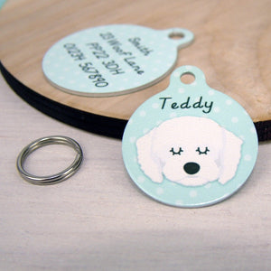 Personalised Cavapoo Dog ID Tag  - Hoobynoo - Personalised Pet Tags and Gifts