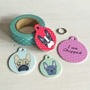 French Bulldog Personalised Pet ID Tag  - Hoobynoo - Personalised Pet Tags and Gifts