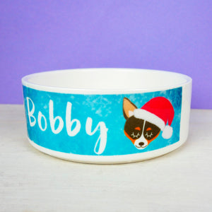 Personalised Chihuahua Christmas Dog Bowl - SMALL  - Hoobynoo - Personalised Pet Tags and Gifts