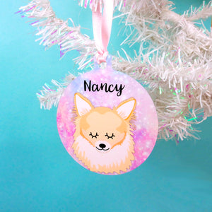 Personalised Chihuahua Christmas Decoration - Universe  - Hoobynoo - Personalised Pet Tags and Gifts