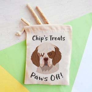 Clumber Spaniel Personalised Treat Training Bag  - Hoobynoo - Personalised Pet Tags and Gifts