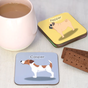 Personalised Cute Dog Coaster