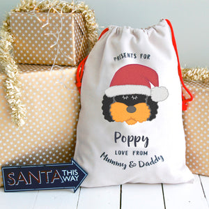 Cockapoo/ Bichon Frise/ Labradoodle Dog Treat / Christmas Sack  - Hoobynoo - Personalised Pet Tags and Gifts