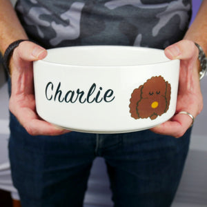 Personalised Cockapoo/Labradoodle/Bichon Frise Dog Bowl