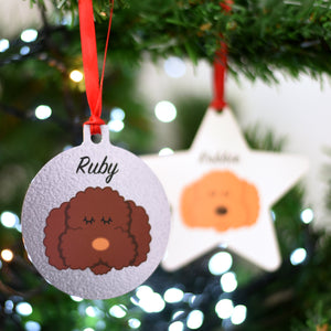 Cockapoo/ Bichon Frise/ Labradoodle Personalised Santa Christmas Decoration