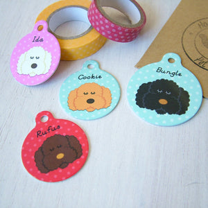 Bichon Frise Personalised Dog ID Tag  - Hoobynoo - Personalised Pet Tags and Gifts
