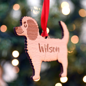 Cockapoo Personalised Wooden Christmas Decoration
