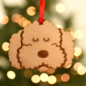 Wooden Cockapoo/Labradoodle/Bichon Frise Decoration