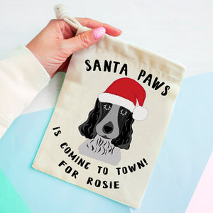Cocker Spaniel Christmas Treat Present Bag  - Hoobynoo - Personalised Pet Tags and Gifts