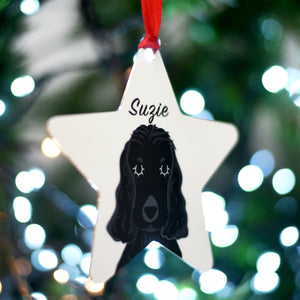 Personalised Cocker Spaniel Christmas Decoration