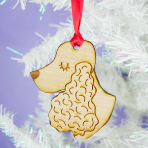 Cocker Spaniel Wooden Christmas Decoration
