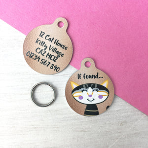 Personalised Copper Cat ID Tag  - Hoobynoo - Personalised Pet Tags and Gifts