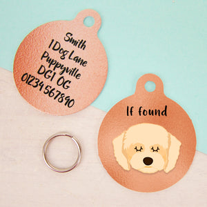 Cavapoo Copper Dog ID Tag  - Hoobynoo - Personalised Pet Tags and Gifts