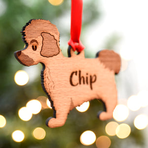 Coton Du Tulear Personalised Wooden Christmas Decoration