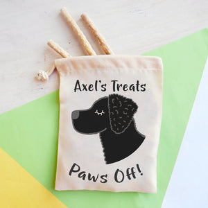 Curly Coated Retriever Personalised Treat Training Bag  - Hoobynoo - Personalised Pet Tags and Gifts