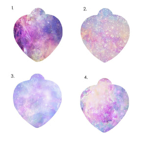 Personalised Dog ID Tag Pastel Universe Heart