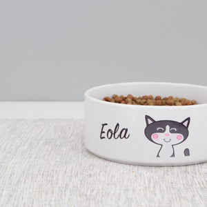 Personalised Cat Bowl  - Hoobynoo - Personalised Pet Tags and Gifts