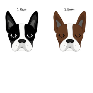Boston Terrier Personalised name ID Tag - White  - Hoobynoo - Personalised Pet Tags and Gifts