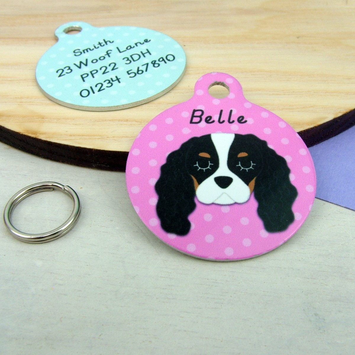 Personalised Cavalier King Charles Spaniel Pet ID Tag - Hoobynoo - Personalised Pet Tags and Gifts