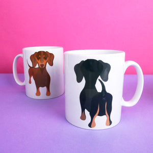 Dachshund Butt Mug - Funny Dog Mug  - Hoobynoo - Personalised Pet Tags and Gifts
