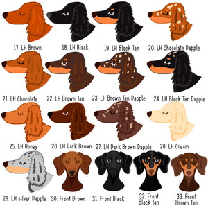 Dachshund Personalised Treat Training Bag