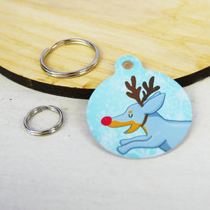 Dachshund Reindeer Christmas Pet Tag  - Hoobynoo - Personalised Pet Tags and Gifts