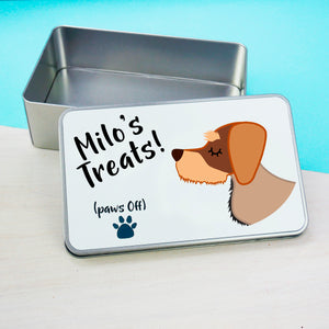 Dachshund Personalised treat tin  - Hoobynoo - Personalised Pet Tags and Gifts