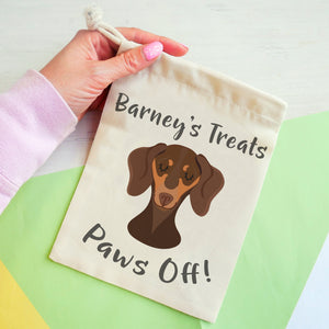 Dachshund Personalised Treat Training Bag  - Hoobynoo - Personalised Pet Tags and Gifts