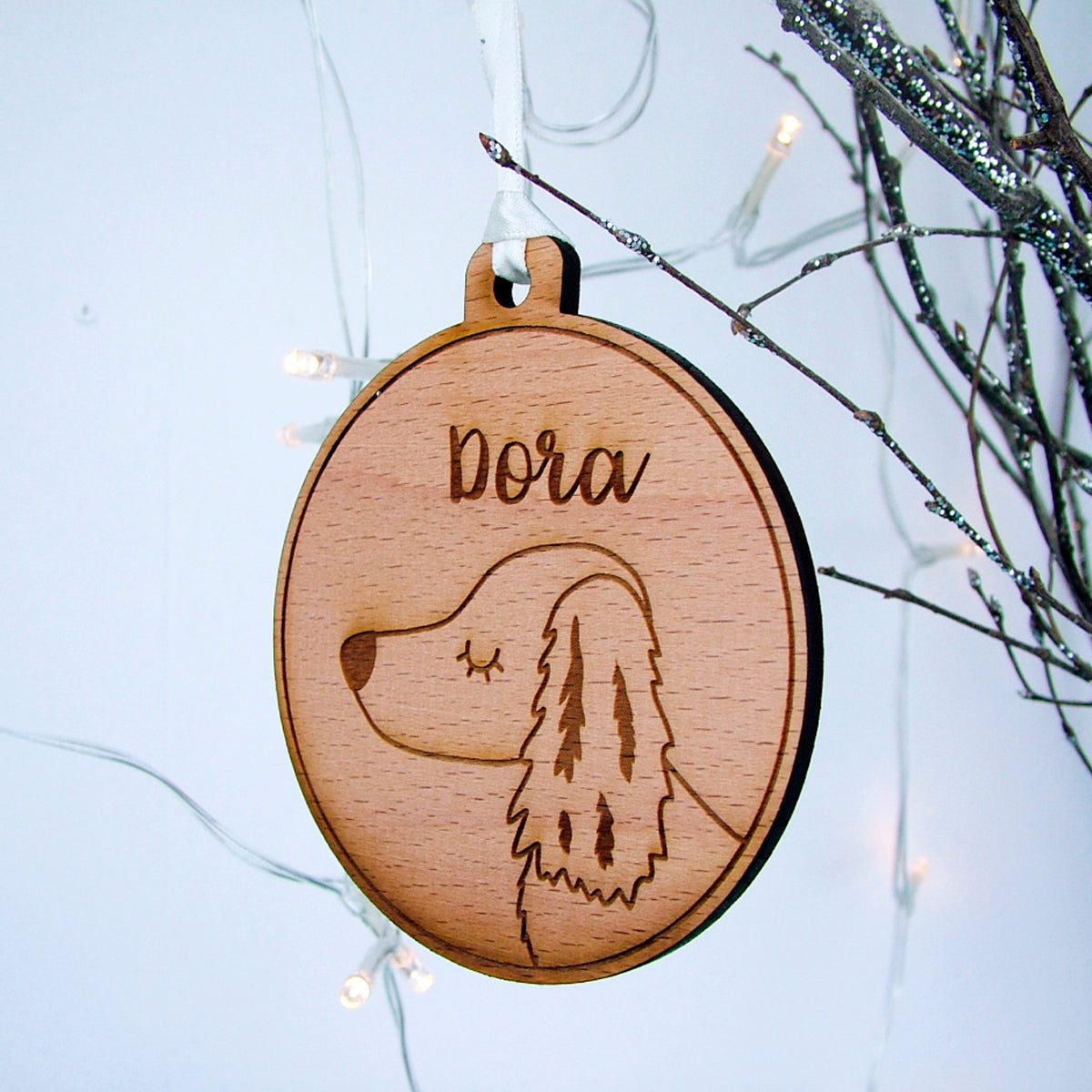 Dachshund Wooden Christmas Decoration