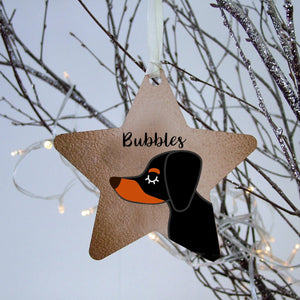 Personalised Dachshund Dog Christmas Decoration - Copper Printed