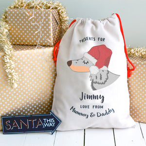 Dachshund Dog Treat / Christmas Sack  - Hoobynoo - Personalised Pet Tags and Gifts