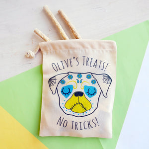 Day of the Dead Dog Treat Bag Personalised  - Hoobynoo - Personalised Pet Tags and Gifts