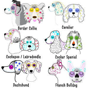 Personalised Dog ID Tag - Day of the Dog  - Hoobynoo - Personalised Pet Tags and Gifts