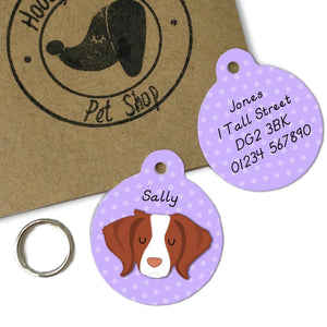 Brittany Dog ID Tag Personalised  - Hoobynoo - Personalised Pet Tags and Gifts