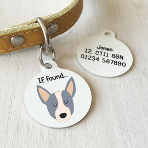 Australian Cattle Dog Personalised name ID Tag - White  - Hoobynoo - Personalised Pet Tags and Gifts